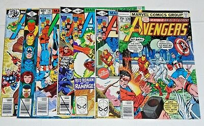 Avengers #170,176,186,187,188,197,198 comic lot- Ultron