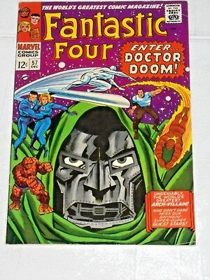 Fantastic Four #57 comic (FN) Dr. Doom Steals Silver Surfer's Powers, Jack kirby