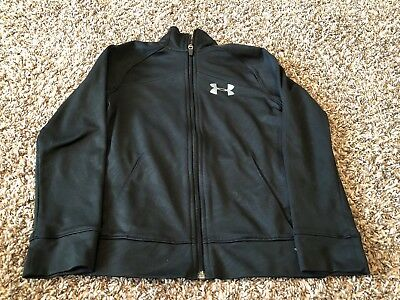 Under Armour Youth XS All Season Loose Fit Full Zip Long sleeve jacket Black