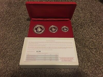 Australian Lunar S1 Year of the Monkey 2004 PROOF 3-coin set