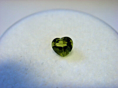 Peridot Heart Cut 5mm x 5mm Gemstone 0.35 Carats Natural Gem