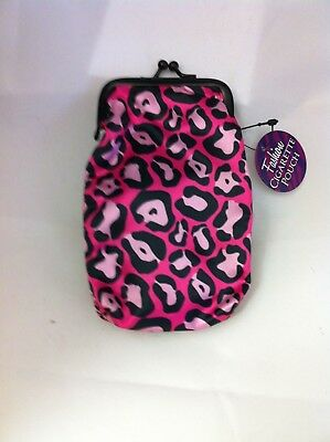 Pink Animal Print Nylon Soft Cigarette Case 100's Nwt