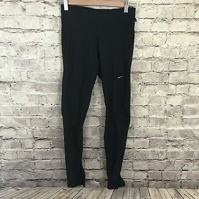 Nike Fit Dry Womens Black Fitted Running Active Tapered Legging Pants Size S