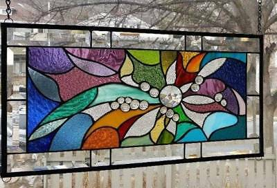 **EFFERVESCENT** Stained Glass Window Panel (Signed and dated)