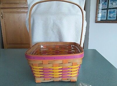 Longaberger 2017 Bright Pink Easter basket with protector