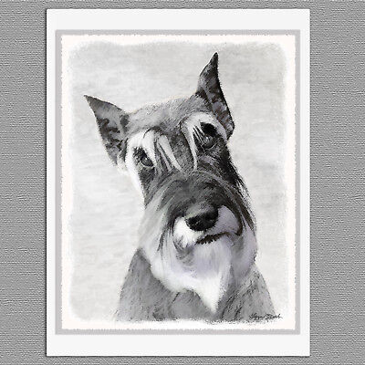 GIANT SCHNAUZER DOGS IN TRAINING LOVELY DOG GREETINGS NOTE CARD