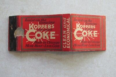 A2 Vintage Matchbook Cover Koppers Coke Coal