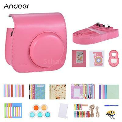 Andoer 14 in 1 Camera Case Bag Shell Kit for Instax Fujifilm Mini 9/8/8+ T8O1