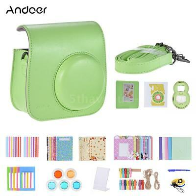 Andoer 14 in 1 Camera Case Bag Shell Kit for Instax Fujifilm Mini 9/8/8+ L3K5