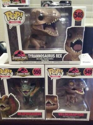 Funko Pop! Movies Jurassic Park Complete Set Of All Dinosaur Figures (In Stock)