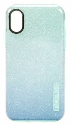 new style f3a46 c6ffa INCIPIO DUALPRO GLITTER Case Design Series For iPhone XS and X Mint  Sparkles NEW