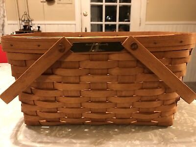 Longaberger Basket 1990 Handcrafted Especially For R.L. Stare