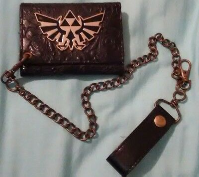 The Legend of Zelda wallet Nintendo gamers collectable item with chain attached