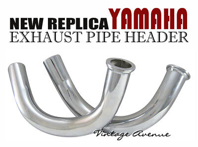 Yamaha Rd250 Rd350 A/B 1973 1974 1975 Exhaust Header Pipe 1Pair [Ey1/Ey2]