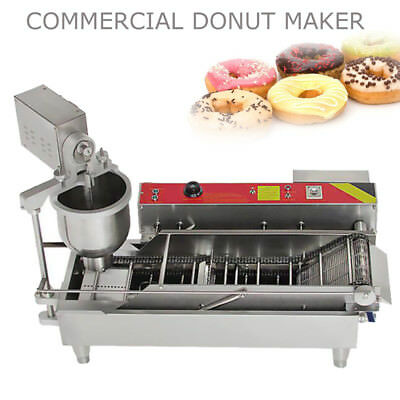 Commercial Automatic Donut Maker Making Machine Wide Oil Tank Adjustable Size