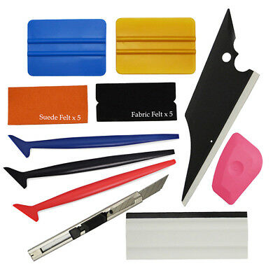 Plastic Squeegee Kit for Car Wrapping Glass Window Tint Sticker Install Applying
