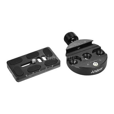 Andoer Universal Aluminum Tripod Head Adapter With QR Plate for Arca Swiss H1S4