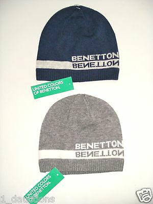 New United Colors Of Benetton Unisex Skater Look Beanie Hat Tight Fitting