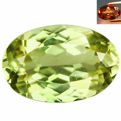 1.93Ct IF Incredible Oval Cut 10 x 6 mm AAA Color Change Turkish Diaspore