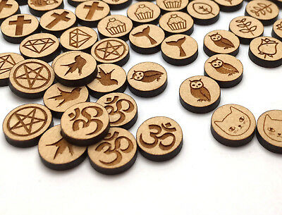 Wood Cabochons 1 Pair Earring Making DIY Jewellery Laser Cut Laser Engraved
