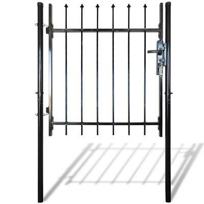 Single Door Fence Gate with Spear Top 100 x 100 cm H5I9
