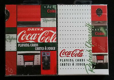 2 DECKS Set Coca Cola Vending Machine Playing Cards by Bicycle New & Sealed