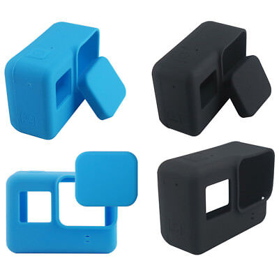 Silicone Sleeve Camera Protective Case+Len Caps Outdoors For Gopro Hero5 Camera