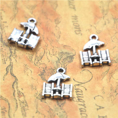 20pcs/lot beach chair charm Antique Tibetan silver tone chair Pendant 20x15mm