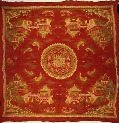 """@Wonderful 19th Century Old Antique Chinese Embroidery """"Dunhuan Flying Apsaras""""@"""