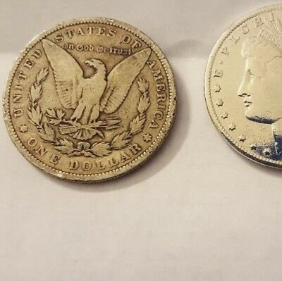 Sk12- lot of 3 Old Morgan Dollars 1878-1904 fine over 100yr old memorabilia