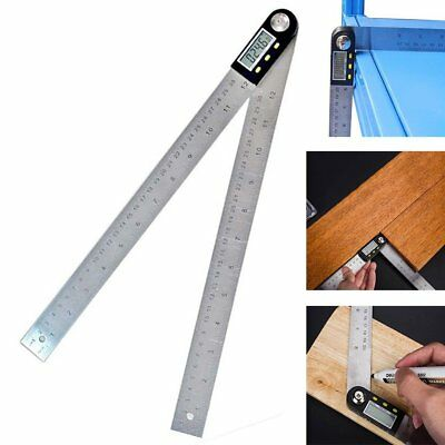 New 2-in-1 Digital Angle Ruler Inclinometer Angle Finder 0~360° SS Ruler 200mm