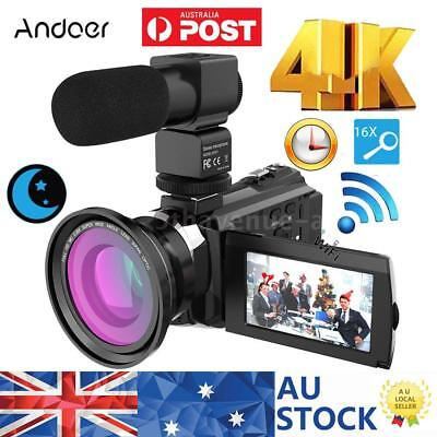 "Andoer  3"" Lcd 4K 48Mp 16X Zoom Wifi 1080P Hd Digital Video Camera Camcorder Dvr"