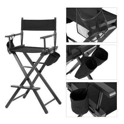 Professional Makeup Artist Directors Chair Wood Light Weight Foldable Outdoor US