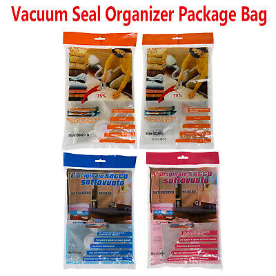 Vacuum Bags Compression Storage Space Saver+Hand Pump For Travel Sealing Clothes