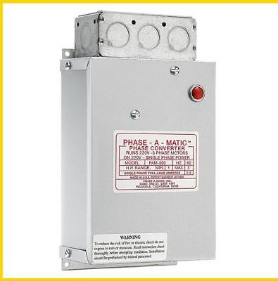 Pam-300 -  1 - 3 Hp - 220 Vac - Phase-A-Matic Phase Converter