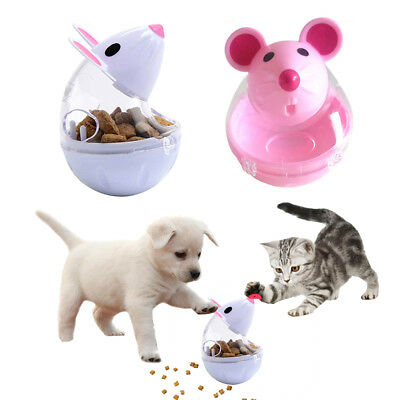 Pet Leakage Food Cat Feeders Cat Tumbler Toy Dog Training Food Ball Mouse Shape