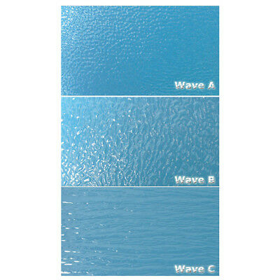 "Architectural Model Water Wave Sheet (Non-Adhesive) 7.8""x11.8"""