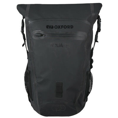 Oxford Motorcycle Aqua B25 Hydro Black 25L Waterproof Backpack Rucksack OL4546