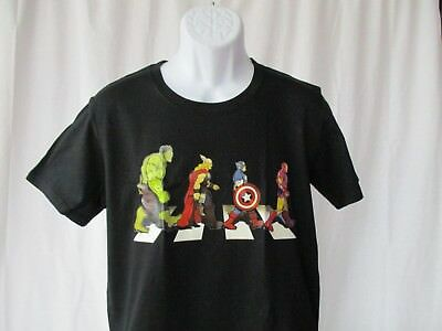 Super Hero Abbey Road - Beatles Fun Comic Shirt Sizes Small to 2XL - NEW