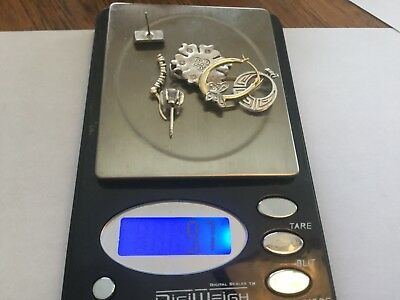 925 Sterling Silver LOT 9.7 grams. Sapphires