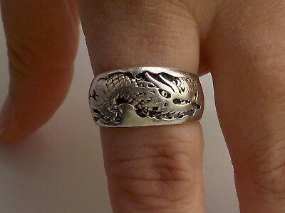 Silver Dragon Ring Metal Detecting Find