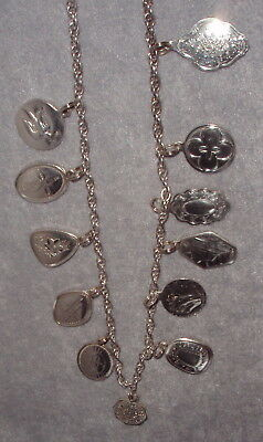 Towle Sterling Silver 12 Days Christmas Complete Charm Necklace Set 1971~1982