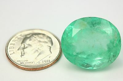 21.95 Cts LARGE Loose Natural Colombian Emerald Oval Shape Green Gemstone