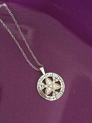 FREE GIFT BAG Silver Plated Zodiac Wicca Witchcraft Astrology Necklace Chain