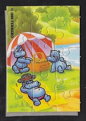 "Ü Ei Puzzle 1988 ""Die Happy Hippos"" oben links"
