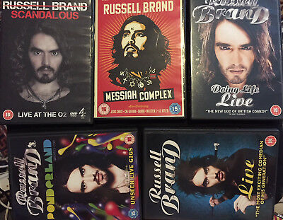 Russell Brand DVDs Ponderland, Messiah Complex, Scandalous, live, Doing life
