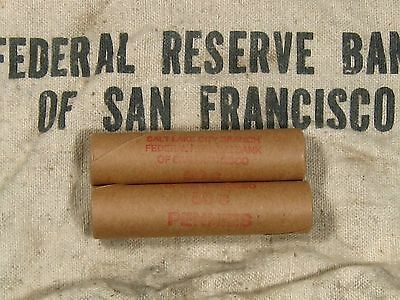 (ONE) FRB SF Salt Lake Branch Indian Head Penny Roll 50 Cents - 1859 1909 (6)