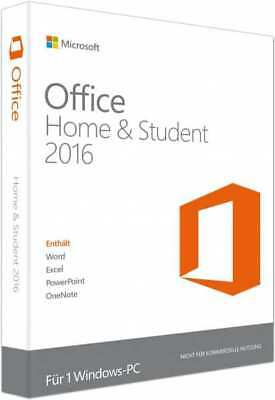 Microsoft Office Home and Student 2016 32&64Bit,Download,Deutsch