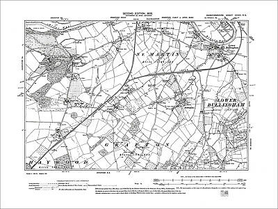 Hereford Huntington Old Map Herefordshire 1905: 33SE Holmer