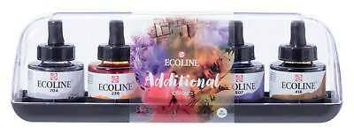 Talens Ecoline Liquid Watercolour Ink Additional Colours Set 5 x 30ml